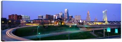Buildings in a city, Kansas City, Missouri, USA Canvas Art Print