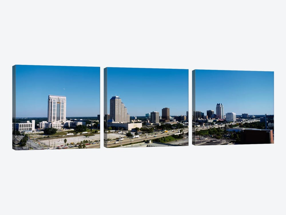 High angle view of buildings in a city, Orlando, Florida, USA by Panoramic Images 3-piece Canvas Art Print