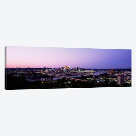 Skyscrapers in a cityCincinnati, Ohio, USA Canvas Print #PIM1842} by Panoramic Images Canvas Art Print