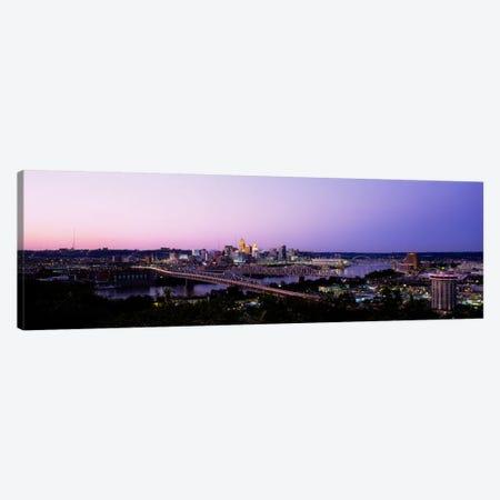 Skyscrapers in a cityCincinnati, Ohio, USA Canvas Print #PIM1842} by Panoramic Images Canvas Art Print