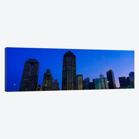 Low angle view of buildings at duskDallas, Texas, USA Canvas Print #PIM1843} by Panoramic Images Canvas Print