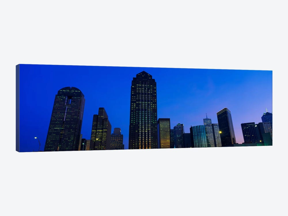 Low angle view of buildings at duskDallas, Texas, USA by Panoramic Images 1-piece Canvas Art