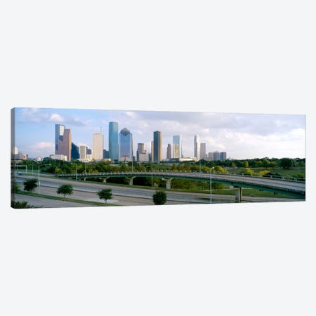 Skyscrapers in a cityHouston, Texas, USA Canvas Print #PIM1844} by Panoramic Images Canvas Wall Art