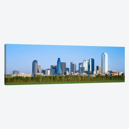 Skyline Dallas TX USA Canvas Print #PIM1845} by Panoramic Images Canvas Wall Art