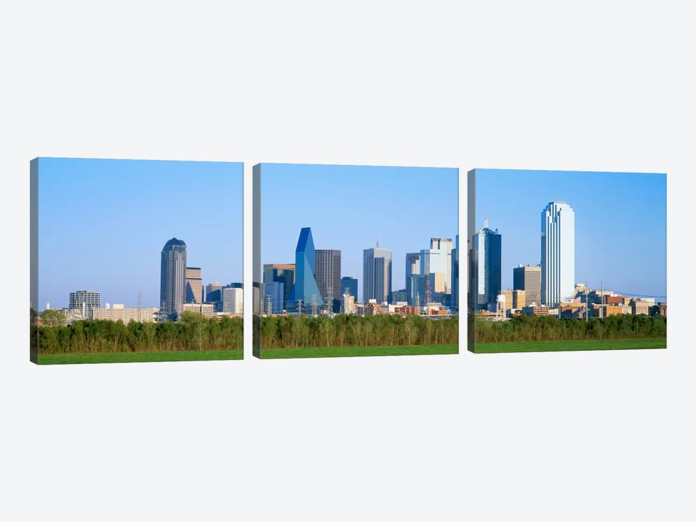 Skyline Dallas TX USA by Panoramic Images 3-piece Canvas Wall Art
