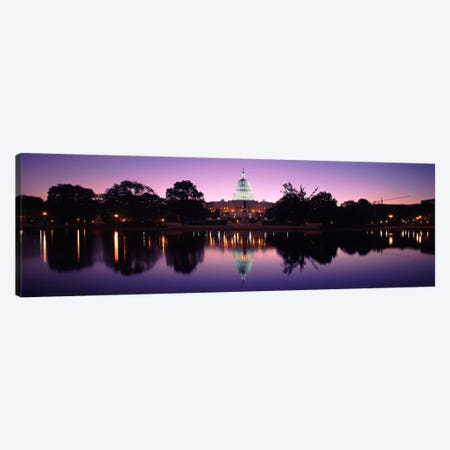 Reflection of a government building in a lakeCapitol Building, Washington DC, USA Canvas Print #PIM1849} by Panoramic Images Canvas Art Print