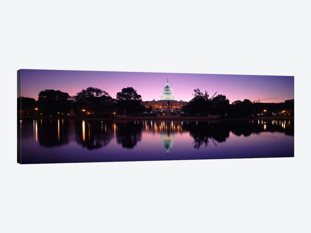 Reflection of a government building in a lakeCapitol Building, Washington DC, USA by Panoramic Images 1-piece Canvas Wall Art