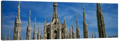 Facade of a cathedral, Piazza Del Duomo, Milan, Italy Canvas Art Print