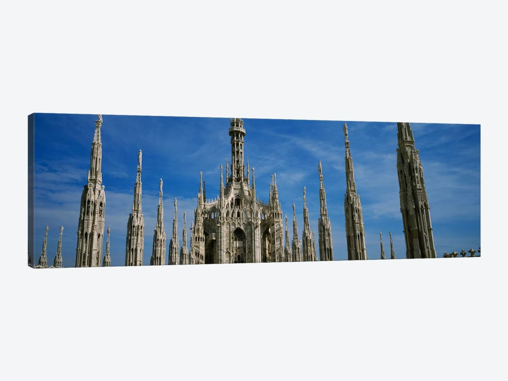 Facade of a cathedral, Piazza Del Duomo, Milan, Italy by Panoramic Images 1-piece Canvas Print
