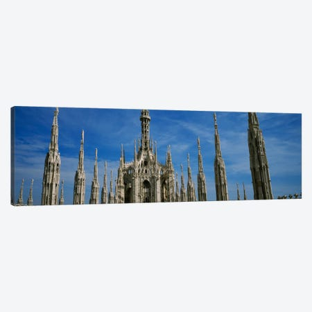 Facade of a cathedral, Piazza Del Duomo, Milan, Italy Canvas Print #PIM184} by Panoramic Images Canvas Art
