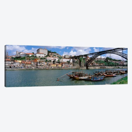 Historic Centre Of Oporto & Dom Luis I Bridge, Norte Region, Portugal Canvas Print #PIM1850} by Panoramic Images Canvas Art