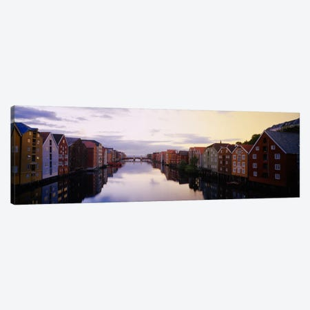 Riverfront Architecture, Trondheim, Sor-Trondelag, Norway Canvas Print #PIM1852} by Panoramic Images Canvas Artwork