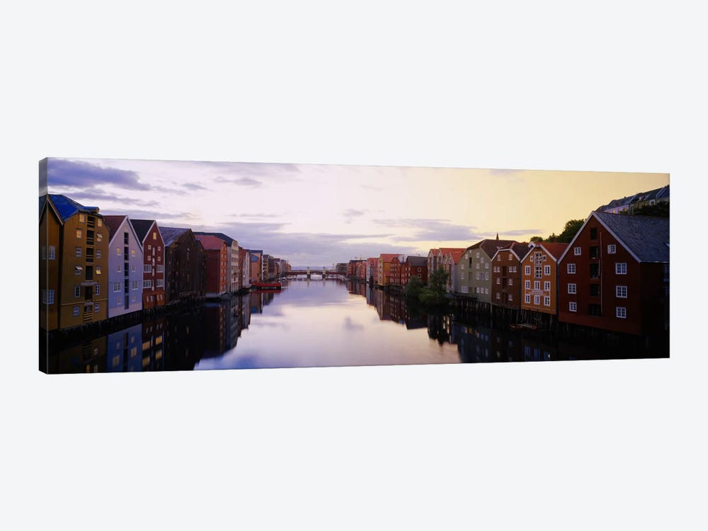 Riverfront Architecture, Trondheim, Sor-Trondelag, Norway by Panoramic Images 1-piece Canvas Wall Art