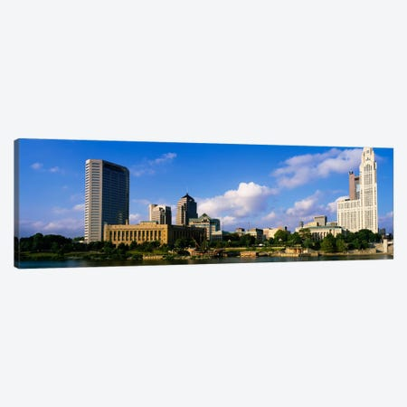 Buildings on the banks of a riverScioto River, Columbus, Ohio, USA Canvas Print #PIM1853} by Panoramic Images Canvas Art