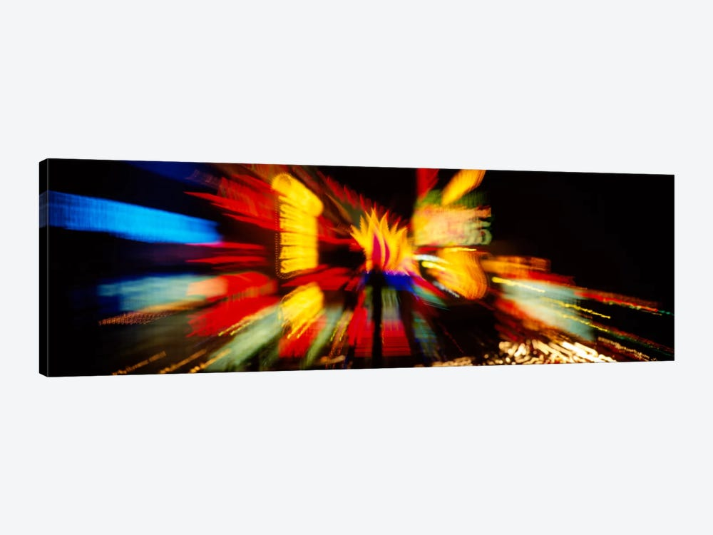 Neon sign lit up at nightLas Vegas, Nevada, USA by Panoramic Images 1-piece Canvas Art
