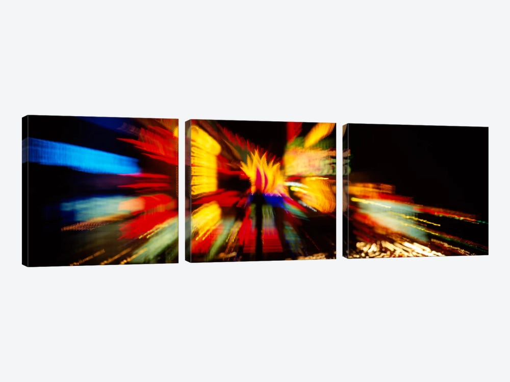 Neon sign lit up at nightLas Vegas, Nevada, USA by Panoramic Images 3-piece Canvas Wall Art