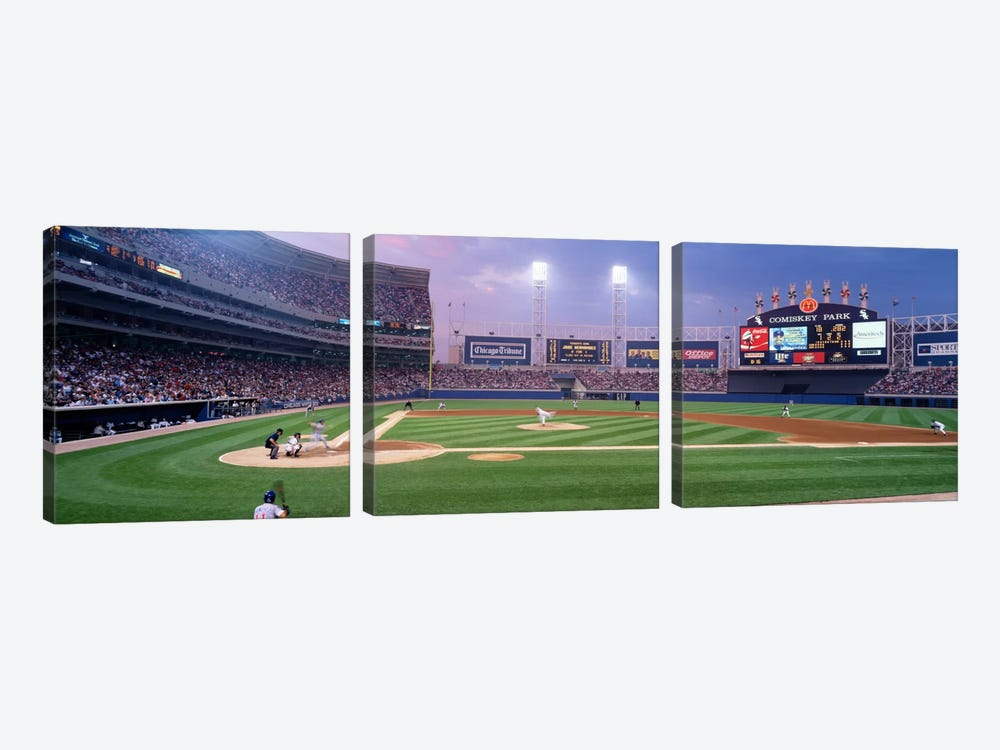 USA, Illinois, Chicago, White Sox, baseball by Panoramic Images 3-piece Canvas Art