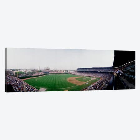 Spectators watching a baseball mach in a stadium, Wrigley Field, Chicago, Cook County, Illinois, USA Canvas Print #PIM1859} by Panoramic Images Canvas Artwork