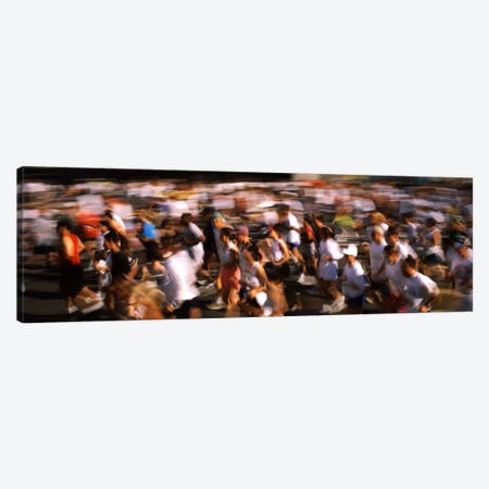 Crowd participating in a marathon race, Bay Bridge, San Francisco, San Francisco County, California, USA Canvas Print #PIM1860} by Panoramic Images Canvas Art Print