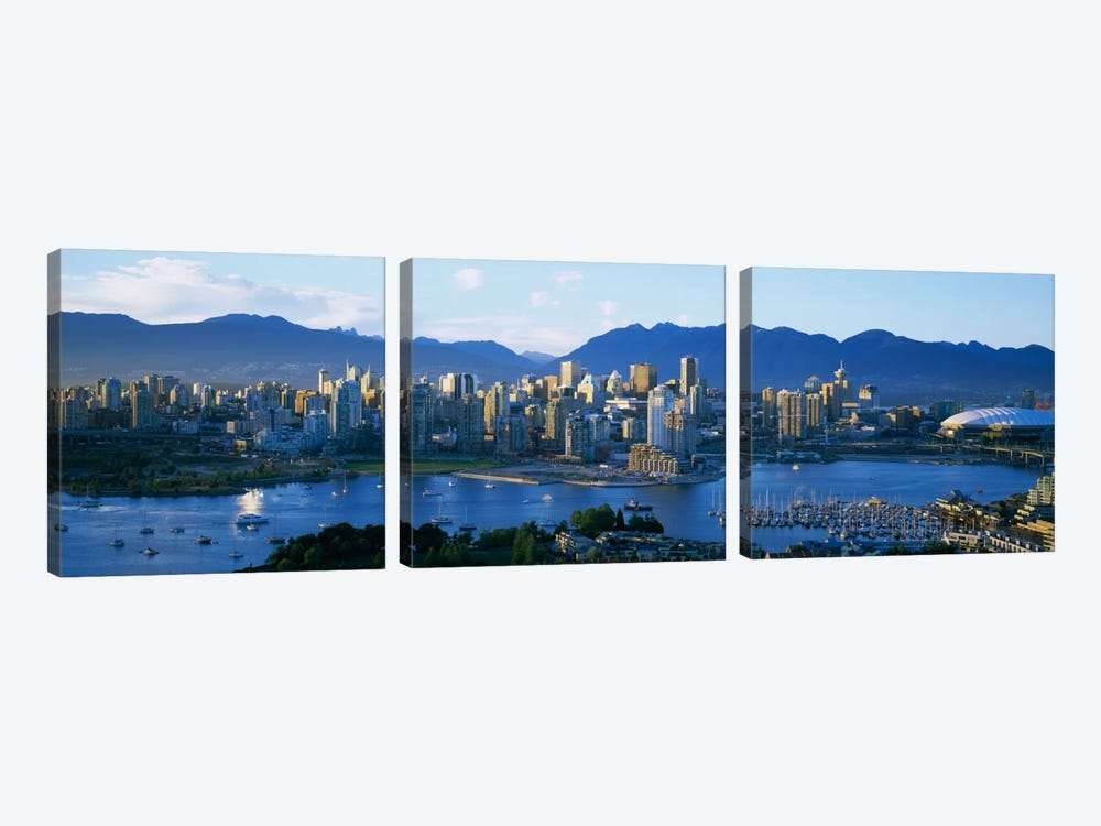 Downtown Skyline, Vancouver, British Columbia, Canada by Panoramic Images 3-piece Canvas Art