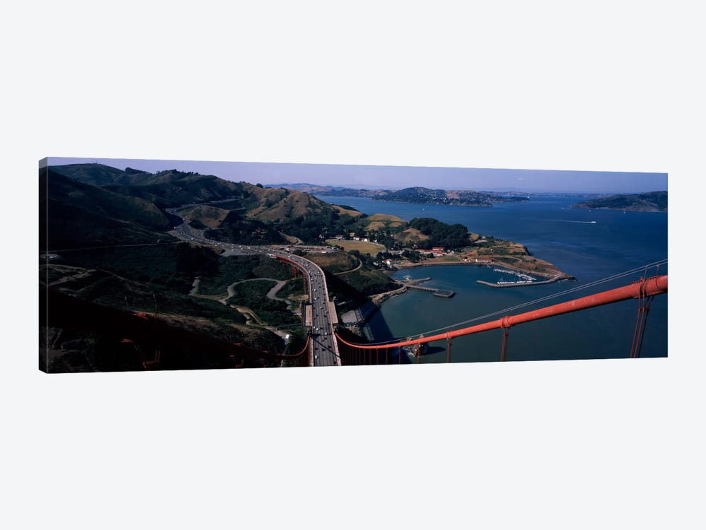 High angle view of a suspension bridge, Golden Gate Bridge, San Francisco, California, USA by Panoramic Images 1-piece Art Print