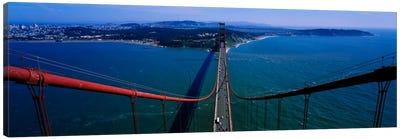 Aerial view of traffic on a bridge, Golden Gate Bridge, San Francisco, California, USA Canvas Print #PIM1867