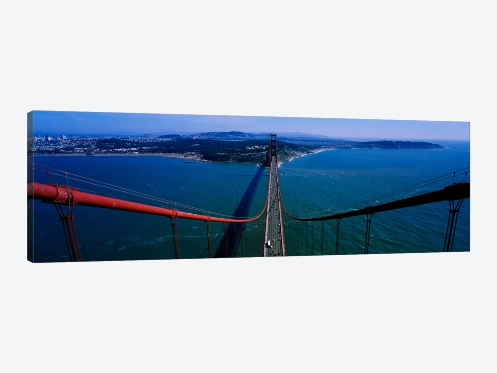 Aerial view of traffic on a bridge, Golden Gate Bridge, San Francisco, California, USA by Panoramic Images 1-piece Canvas Art