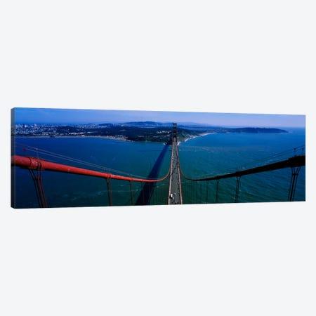 Aerial view of traffic on a bridge, Golden Gate Bridge, San Francisco, California, USA Canvas Print #PIM1867} by Panoramic Images Canvas Wall Art