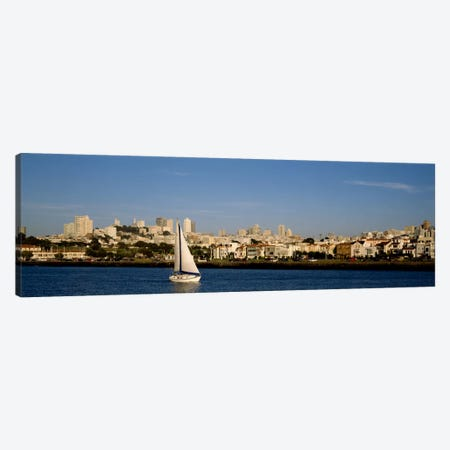 Sailboat in an ocean, Marina District, San Francisco, California, USA Canvas Print #PIM1868} by Panoramic Images Canvas Art Print