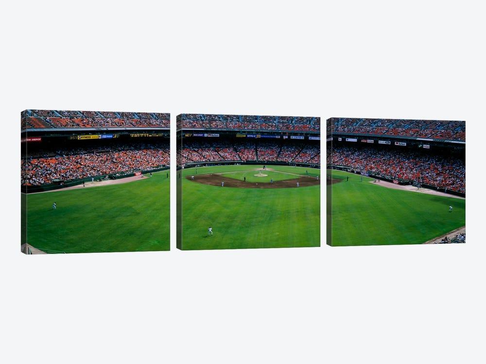 Baseball stadium, San Francisco, California, USA by Panoramic Images 3-piece Canvas Wall Art