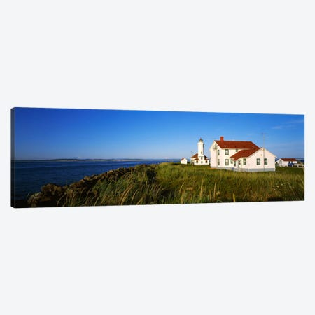 Lighthouse on a landscape, Ft. Worden Lighthouse, Port Townsend, Washington State, USA Canvas Print #PIM1871} by Panoramic Images Canvas Artwork
