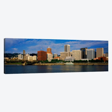 Skyscrapers at the waterfront, Portland, Multnomah County, Oregon, USA Canvas Print #PIM1872} by Panoramic Images Canvas Wall Art