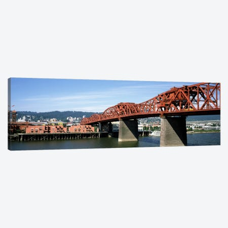 Bascule bridge across a river, Broadway Bridge, Willamette River, Portland, Multnomah County, Oregon, USA Canvas Print #PIM1874} by Panoramic Images Canvas Print