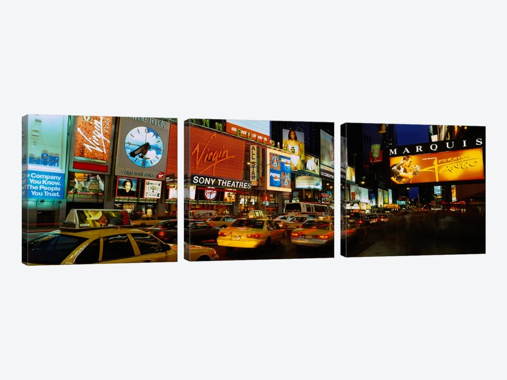 Times Square, Manhattan, NYC, New York City, New York State, USA by Panoramic Images 3-piece Canvas Art