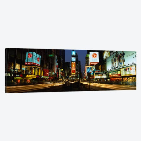 Shopping malls in a city, Times Square, Manhattan, New York City, New York State, USA Canvas Print #PIM1879} by Panoramic Images Canvas Artwork