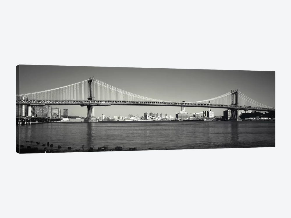 Manhattan Bridge across the East River, New York City, New York State, USA by Panoramic Images 1-piece Canvas Print