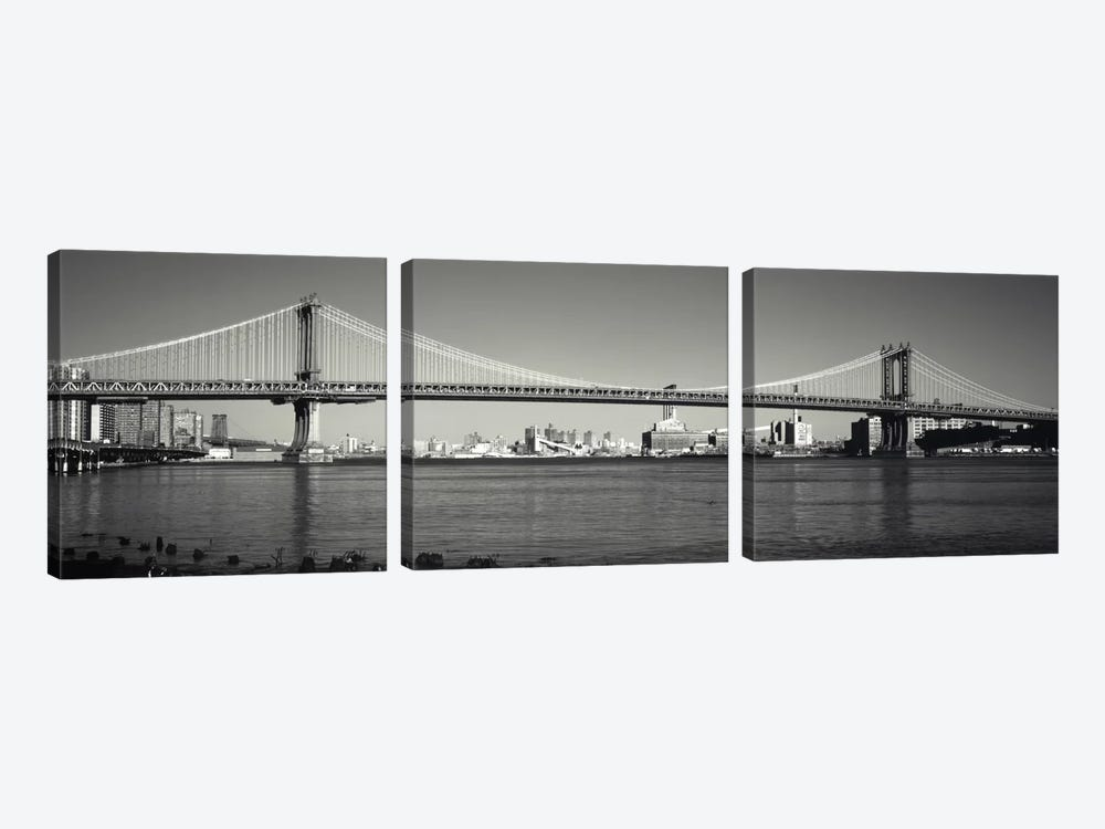 Manhattan Bridge across the East River, New York City, New York State, USA by Panoramic Images 3-piece Canvas Art Print