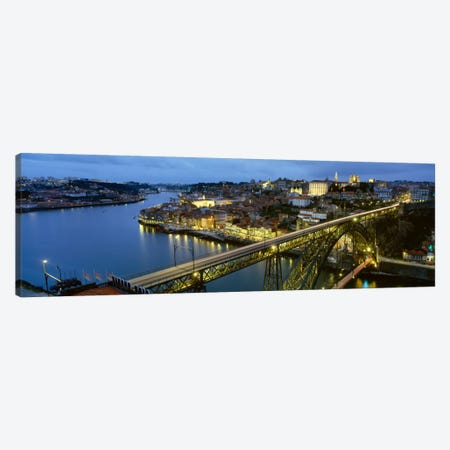 Dom Luis I Bridge At Night, Porto, Portugal Canvas Print #PIM1887} by Panoramic Images Canvas Wall Art