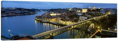Dom Luis I Bridge At Night, Porto, Portugal Canvas Print #PIM1887