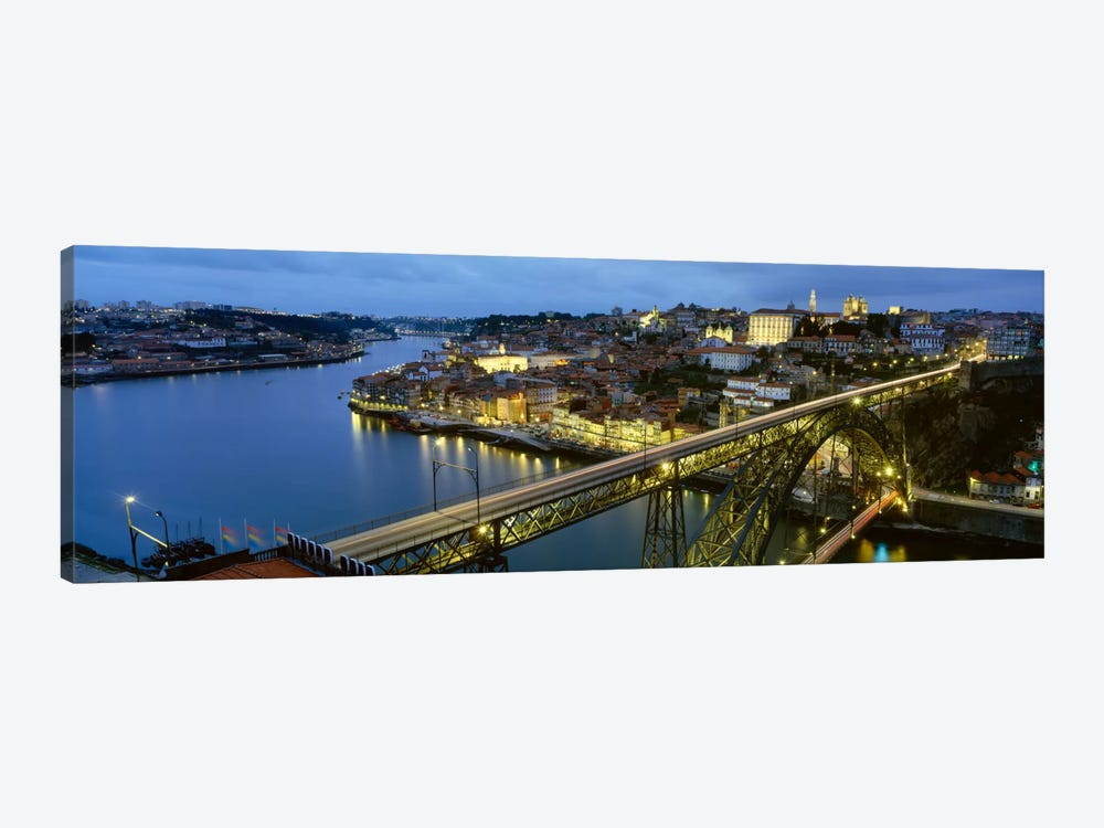 Dom Luis I Bridge At Night, Porto, Portugal by Panoramic Images 1-piece Canvas Wall Art