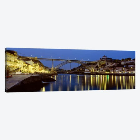 Dom Luis I Bridge At Night, Porto, Portugal Canvas Print #PIM1888} by Panoramic Images Canvas Print