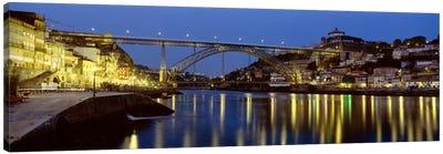 Dom Luis I Bridge At Night, Porto, Portugal Canvas Print #PIM1888