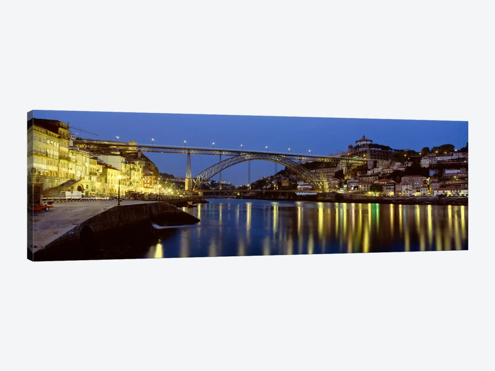 Dom Luis I Bridge At Night, Porto, Portugal by Panoramic Images 1-piece Canvas Print