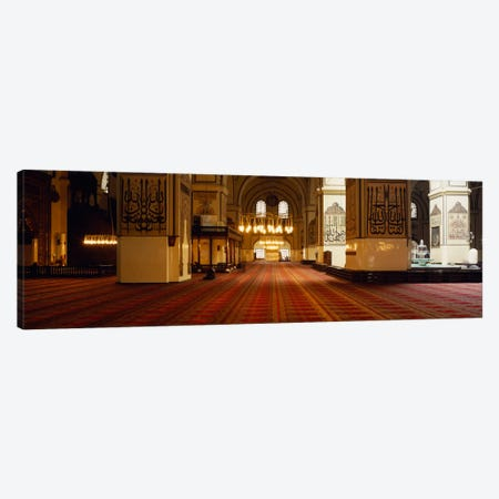 Interiors of a mosque, Ulu Camii, Bursa, Bursa Province, Turkey Canvas Print #PIM1890} by Panoramic Images Canvas Art
