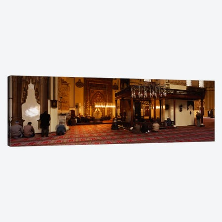 Group of people praying in a mosque, Ulu Camii, Bursa, Turkey Canvas Print #PIM1891} by Panoramic Images Canvas Artwork