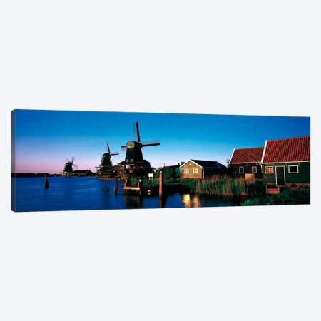 Windmills Zaanstreek Netherlands Canvas Print #PIM1893} by Panoramic Images Canvas Artwork