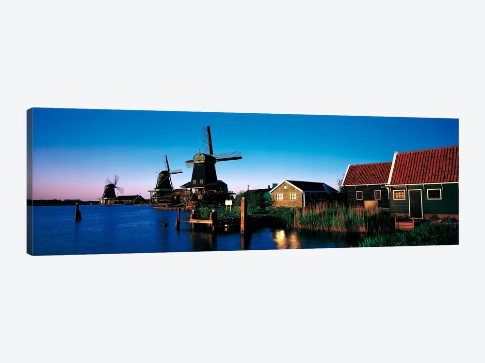 Windmills Zaanstreek Netherlands by Panoramic Images 1-piece Art Print
