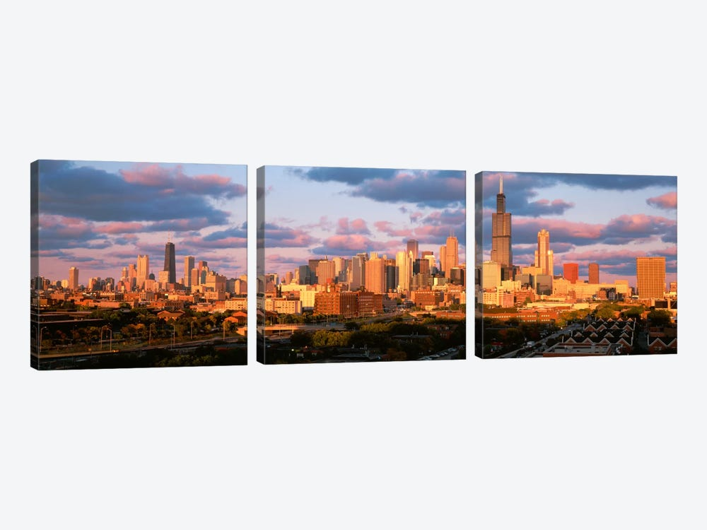Cityscape, Day, Chicago, Illinois, USA by Panoramic Images 3-piece Canvas Art