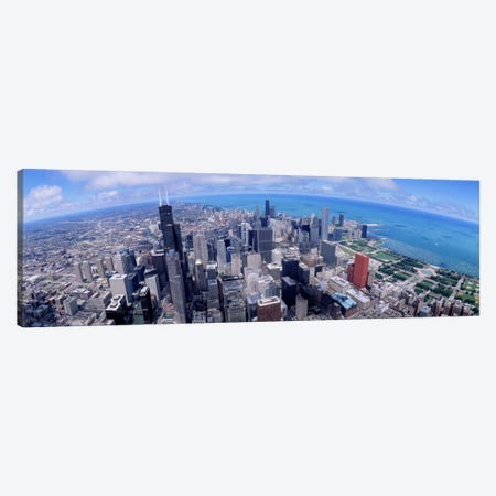 Aerial view of a city, Chicago, Illinois, USA Canvas Print #PIM1899} by Panoramic Images Canvas Artwork