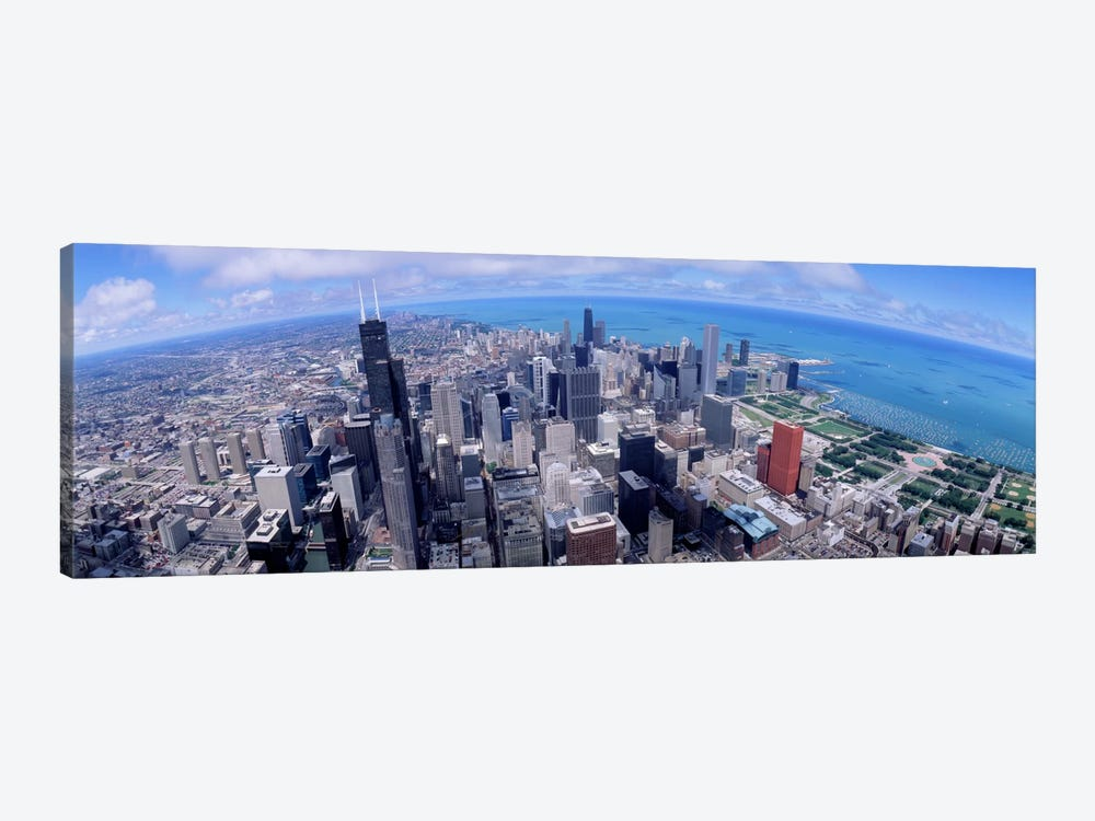 Aerial view of a city, Chicago, Illinois, USA by Panoramic Images 1-piece Canvas Print